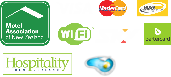 association logos motels sky wifi mastercard visa