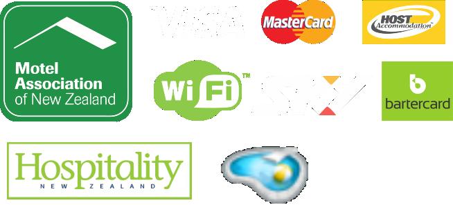 association logos motels sky wifi mastercard visa